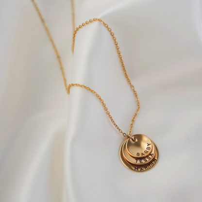 Amore necklace 3 discs in gold