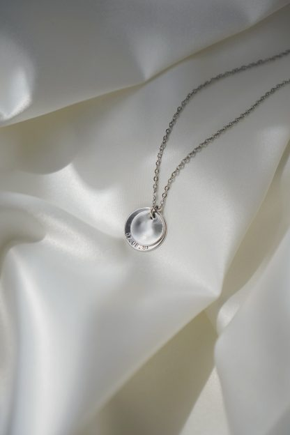Amore Two Discs in Silver White Gold