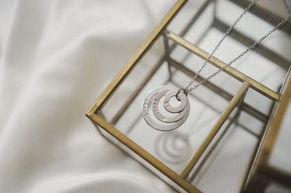 Cassandra Necklace in White Gold