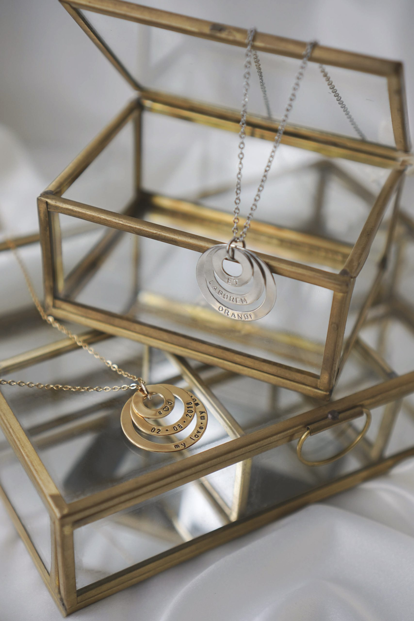 Cassandra Necklace in Gold and White Gold