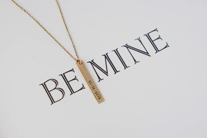 Catalina Bar Necklace in Gold