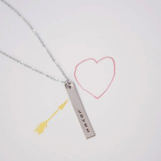 Catalina Bar Necklace in White Gold
