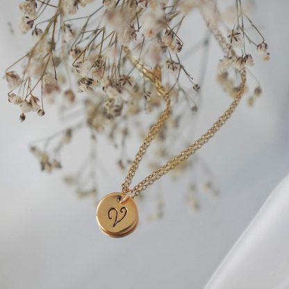 Initials Necklace in Gold tone
