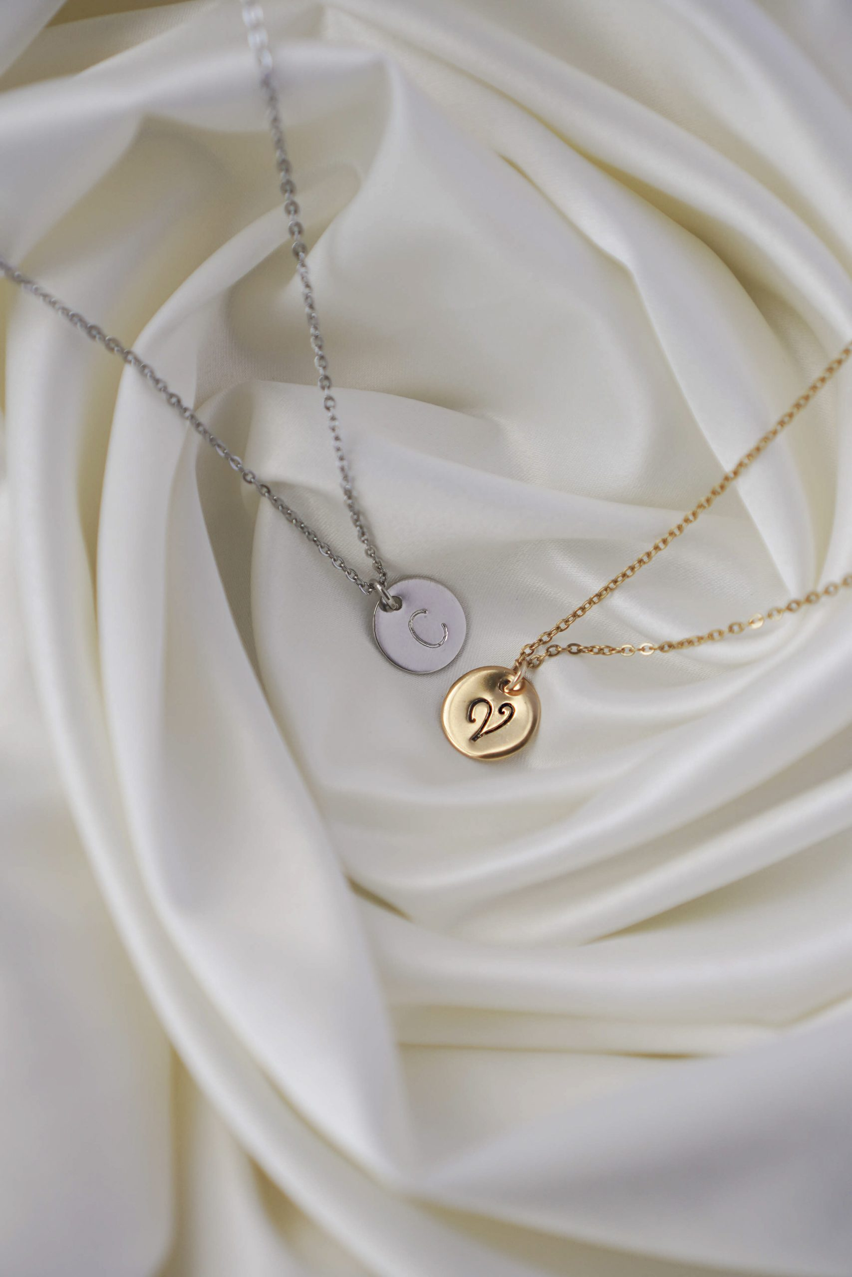 Initial Gold and Silver Necklace