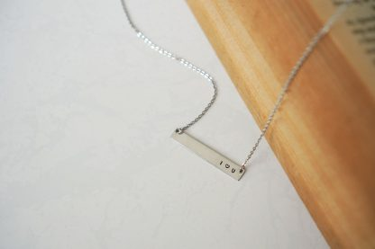My Beloved Bar Pendant Gold Necklace