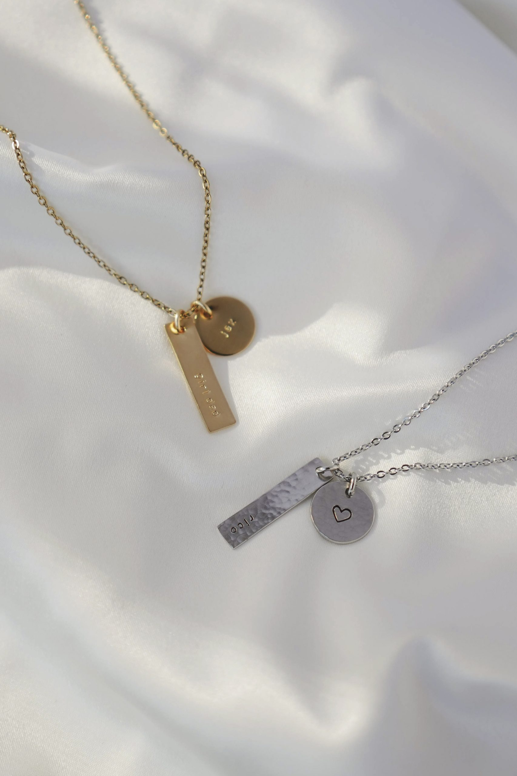 Circe Gold and White Gold Customizable Necklace